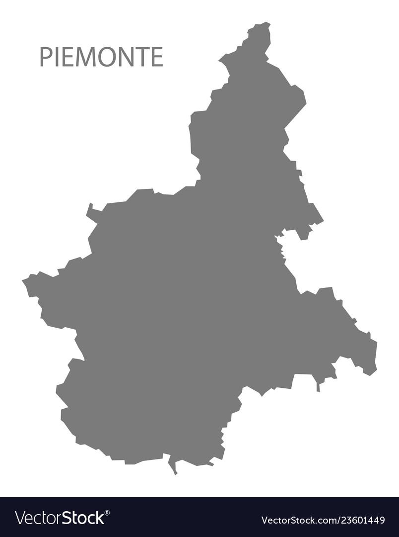 Piemonte Italy Map Grey Royalty Free Vector Image