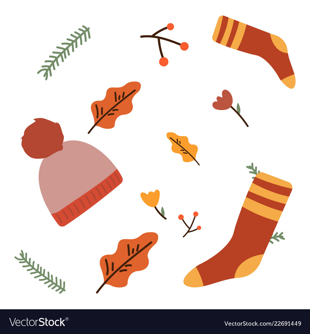 Seamless pattern with christmas socks