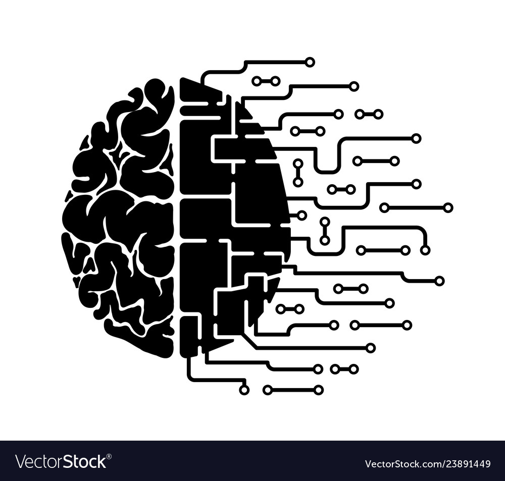 The human brain is abstract human hemisphere and