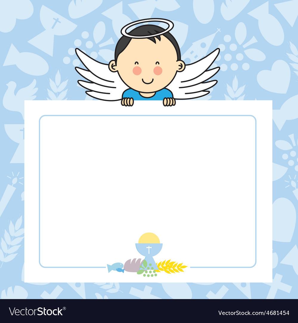 Baby Boy With Wings Royalty Free Vector Image Vectorstock