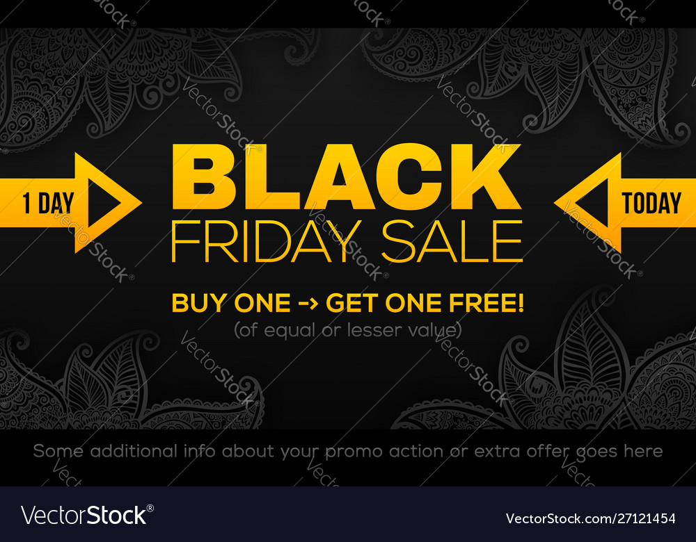 Black friday sale banner template in black and