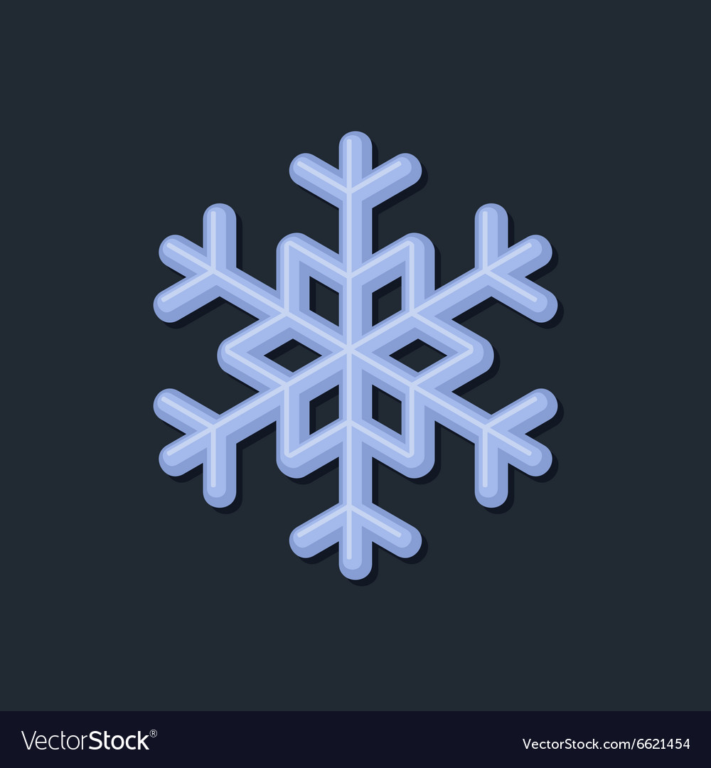 Blue Snowflake on Dark Background