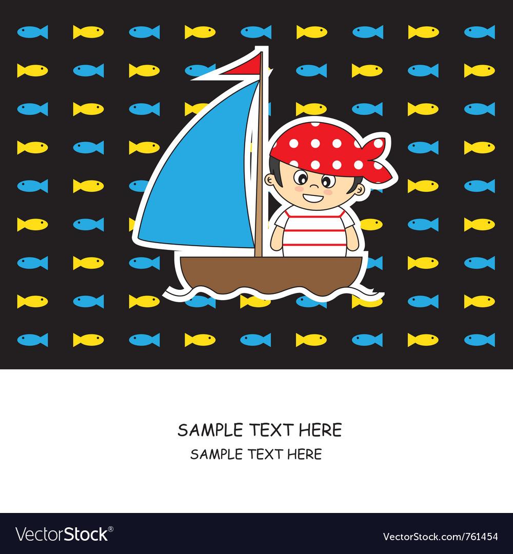 Boy pirate card