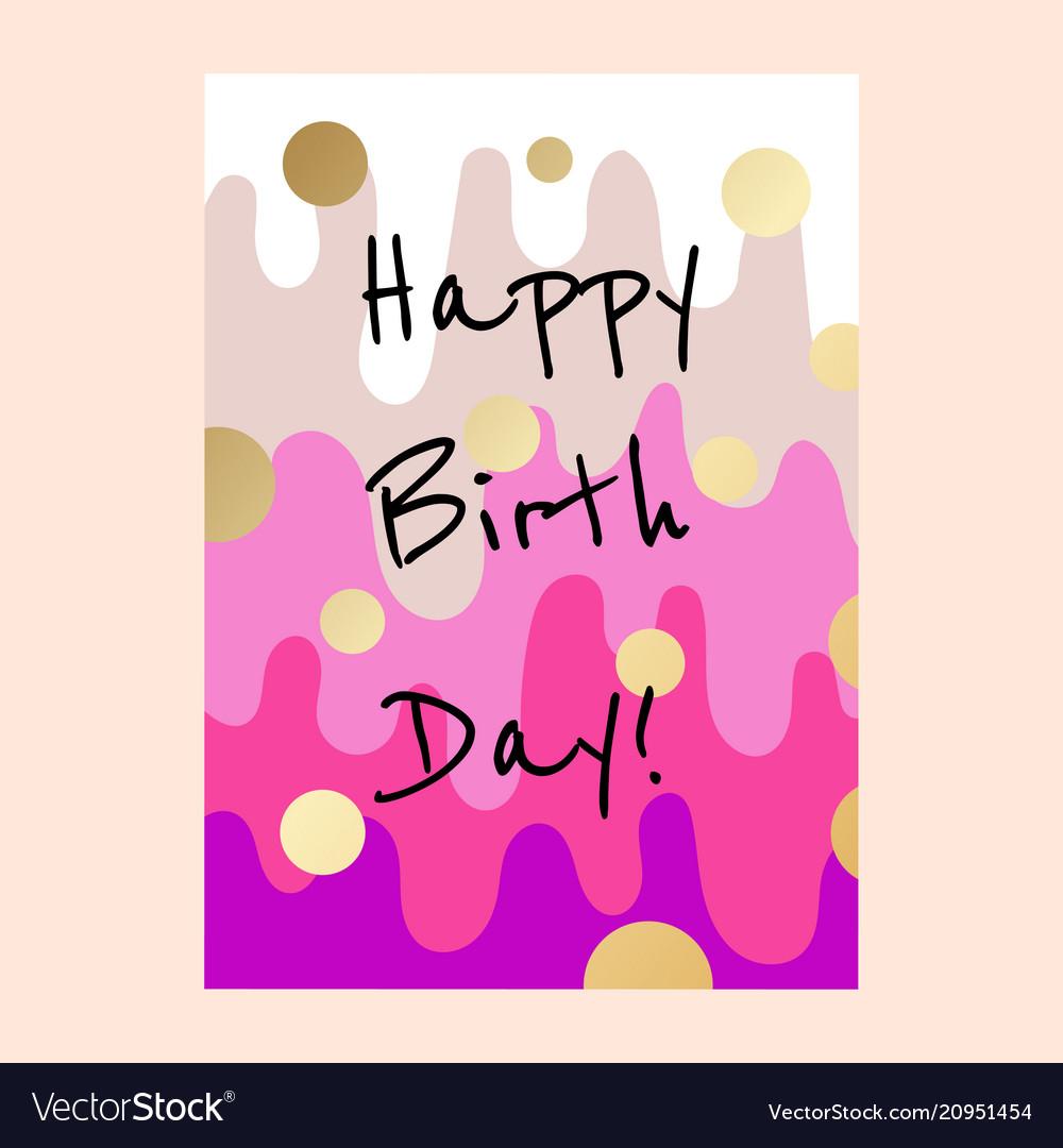 Happy birthday cake layers card design