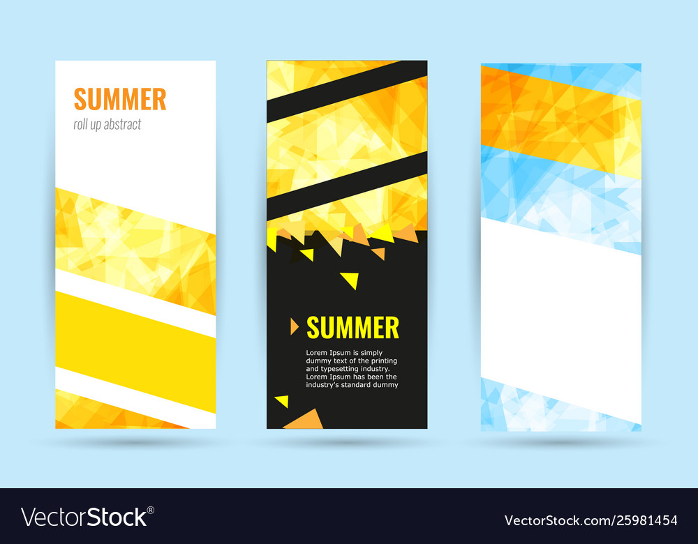 Set abstract geometric roll up vertical summer
