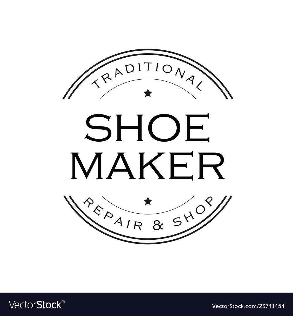 Shoe Maker Vintage Sign Logo