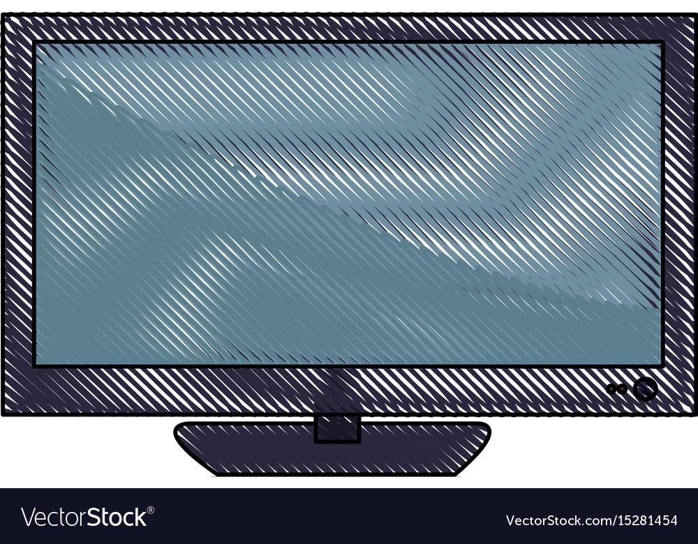 Television screen plasma technology wireless icon