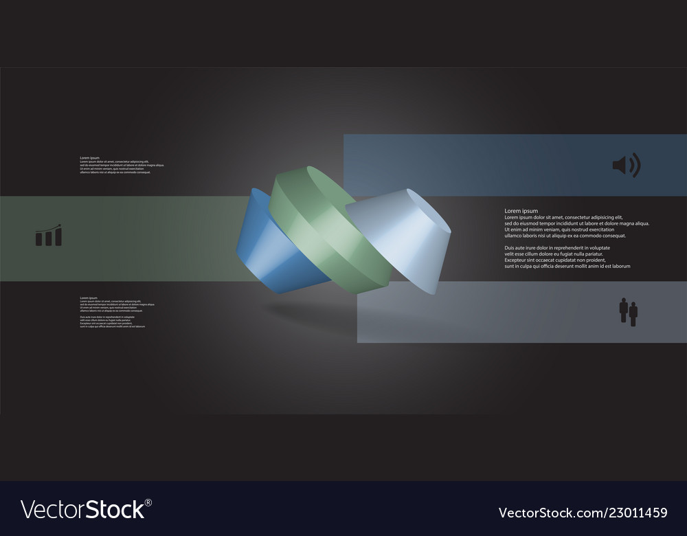 3d infographic template with round octagon