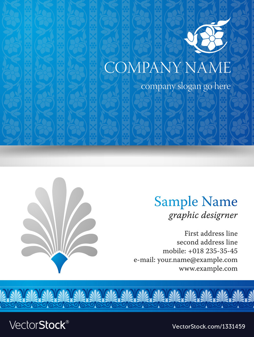 Abstract creative business cards set template