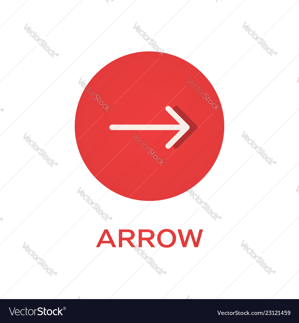Arrow right round flat icon pointer symbol