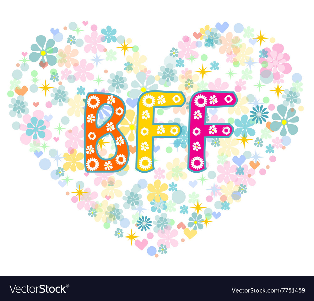 BFF Best Friends Forever Greeting card