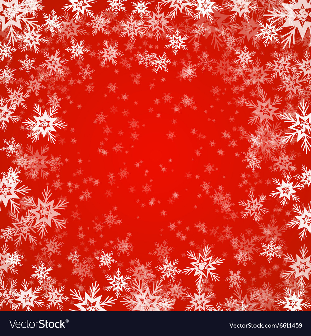 Christmas Colors.Christmas Background Of Snowflakes In Red Colors