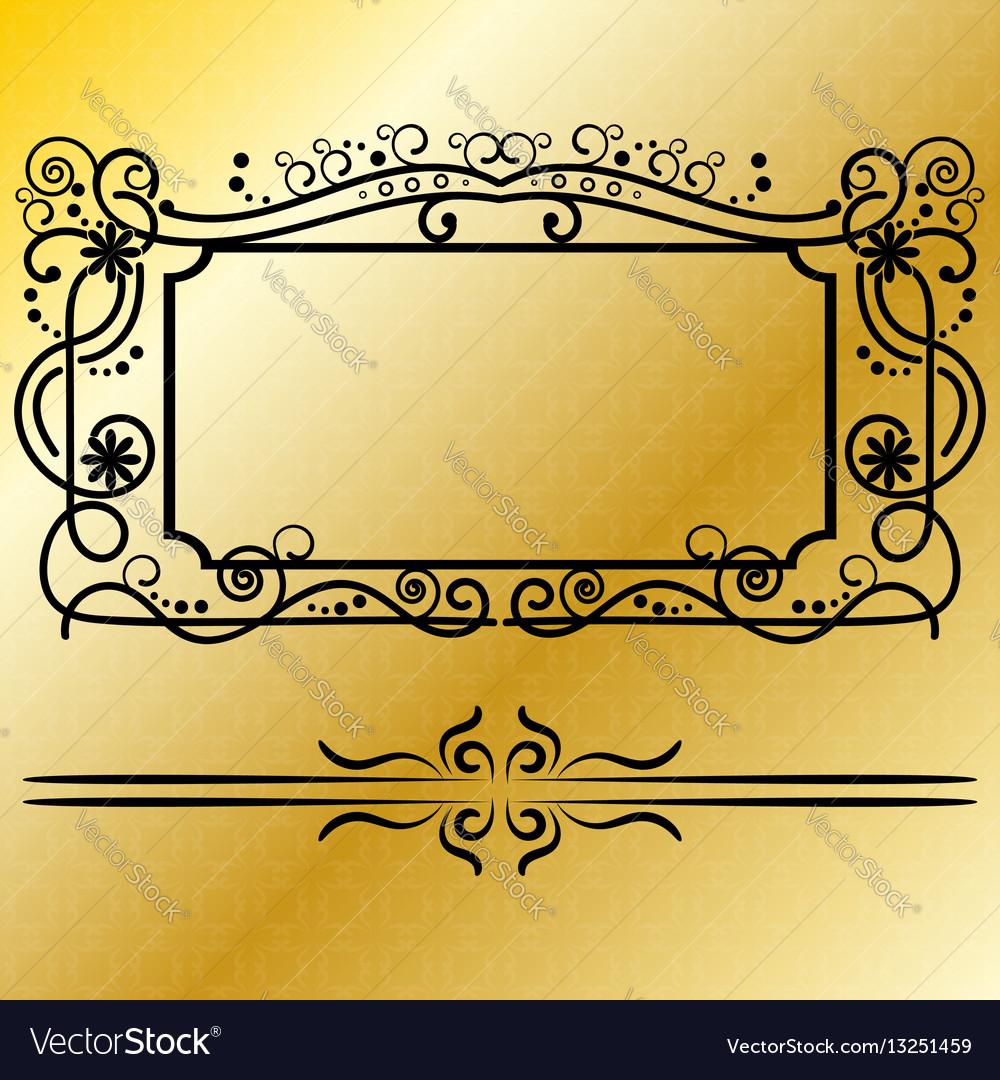 Decorative frames retro black frame