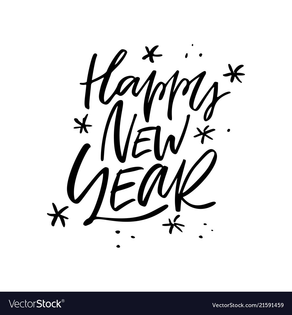Happy New Year Lettering Design 5
