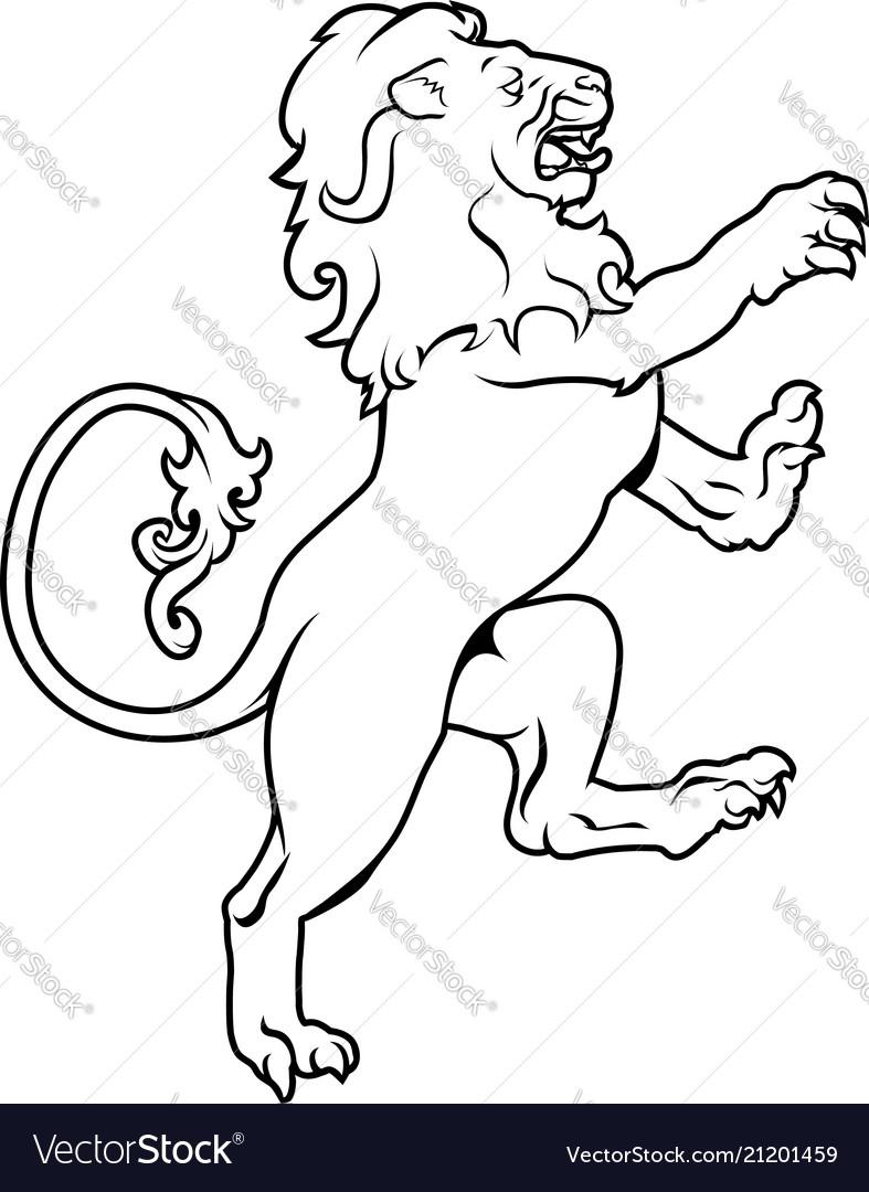 Heraldic coat arms lion