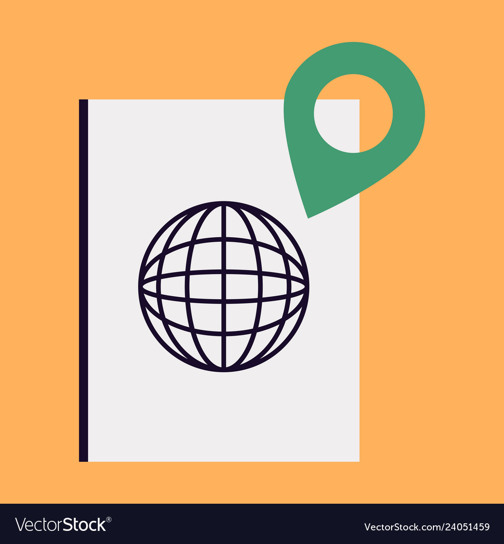 International passport template with gps location vector image on  VectorStock