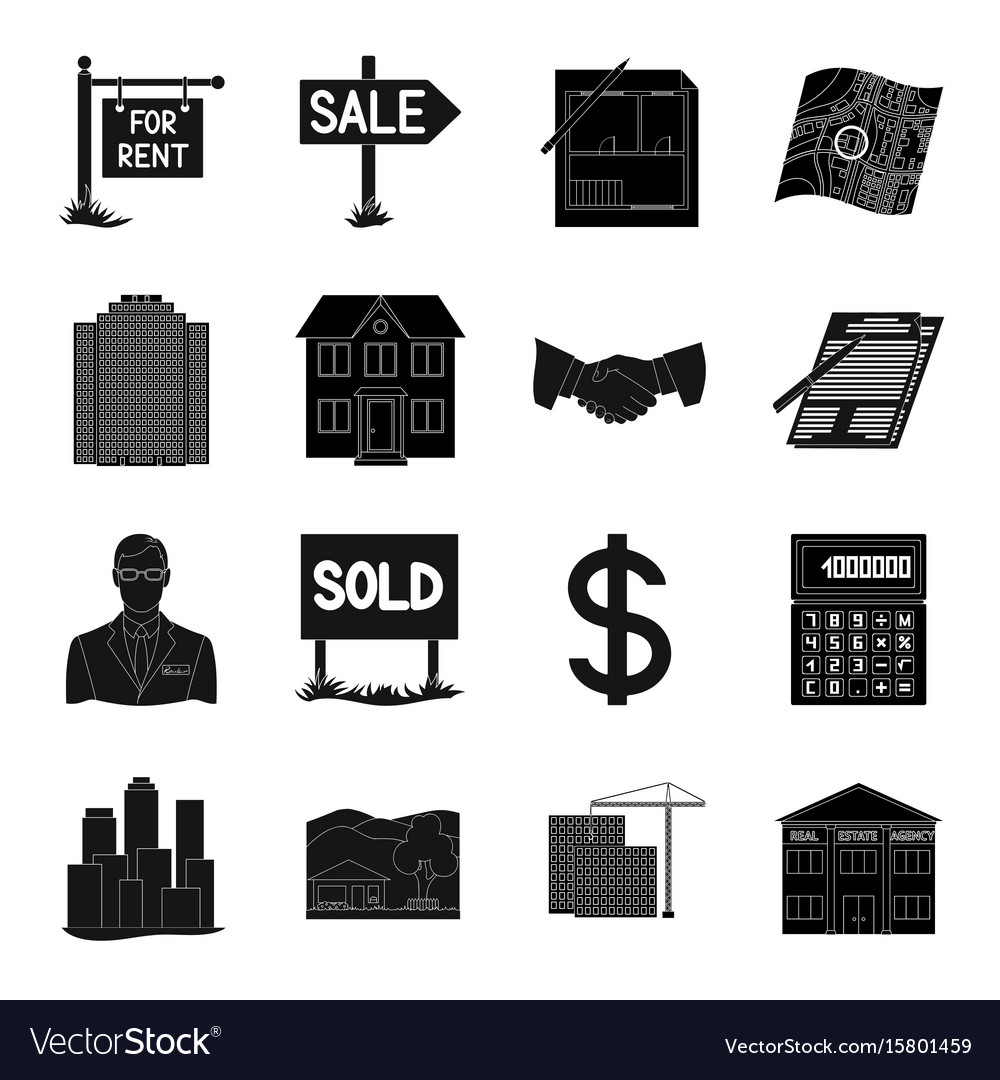 Real estate agency and other attributes realtor vector image