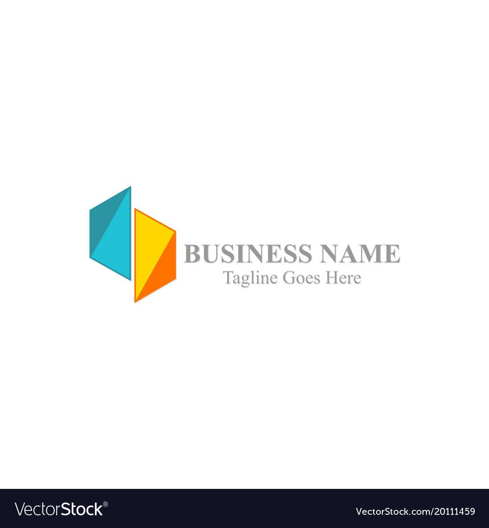 Shape colored business logo