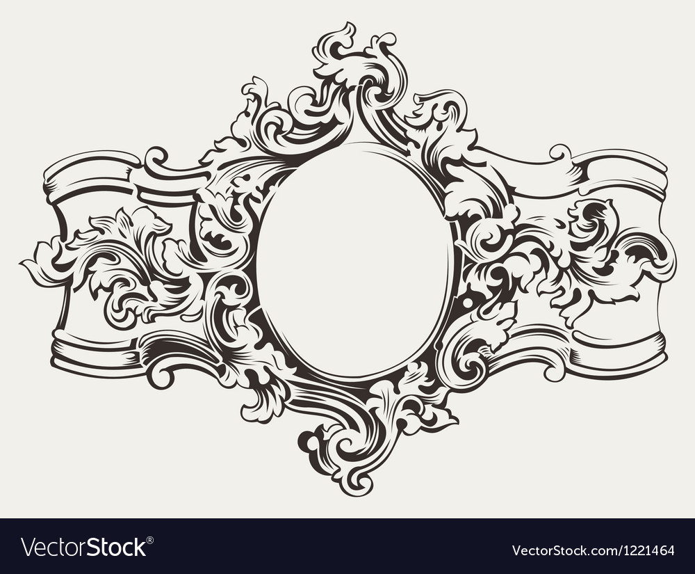 Antique Ornate Frame Engraving