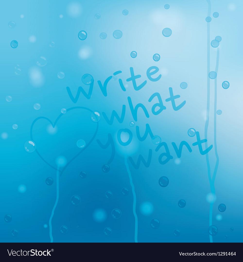 Blue water drops grunge background