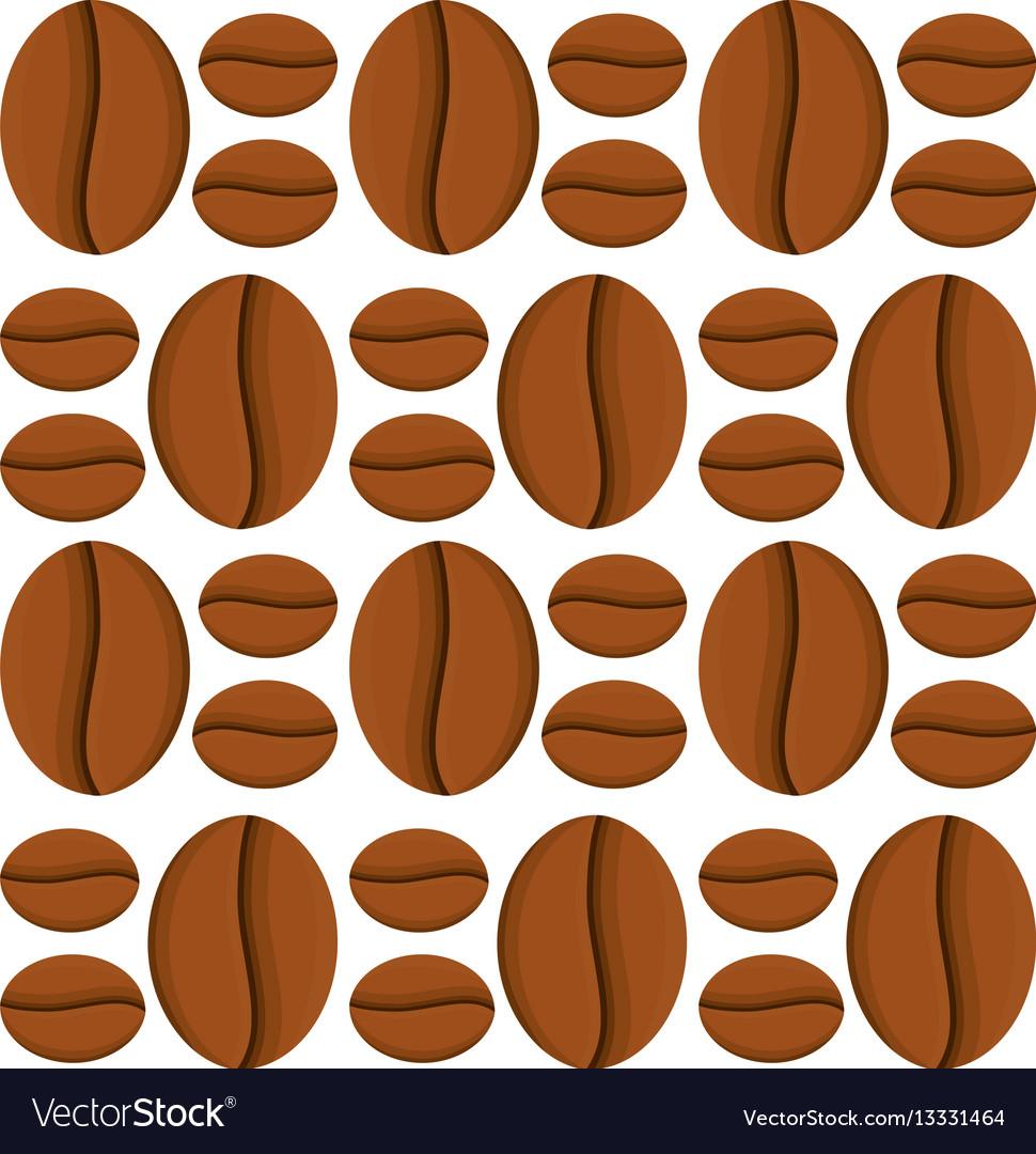 Coffee bean caffeine seamless pattern