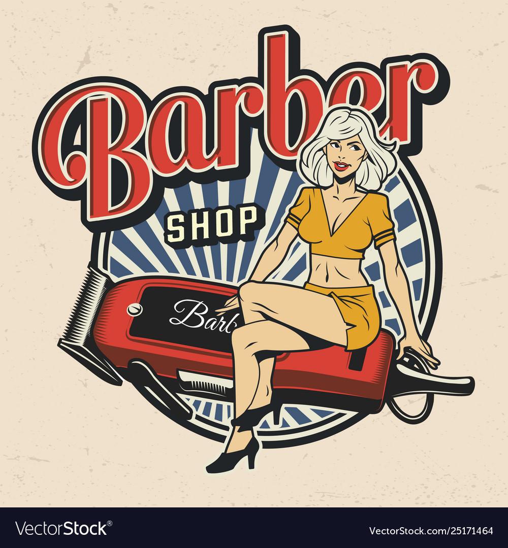 Colorful barbershop logotype