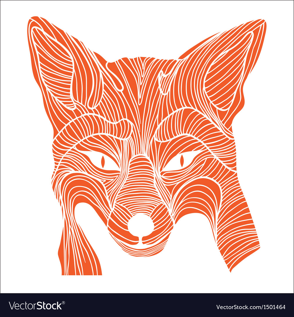 Fox animal sketch tattoo symbol