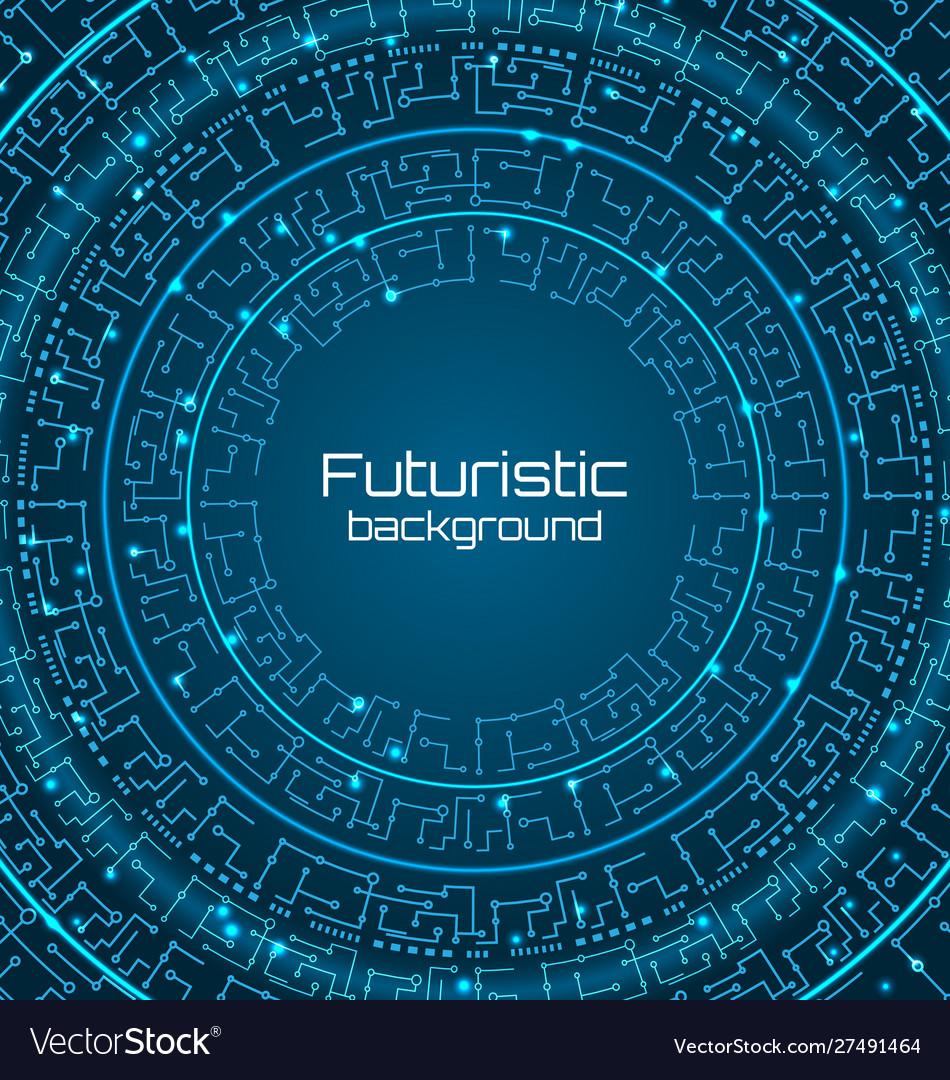 Futuristic background digital template techno
