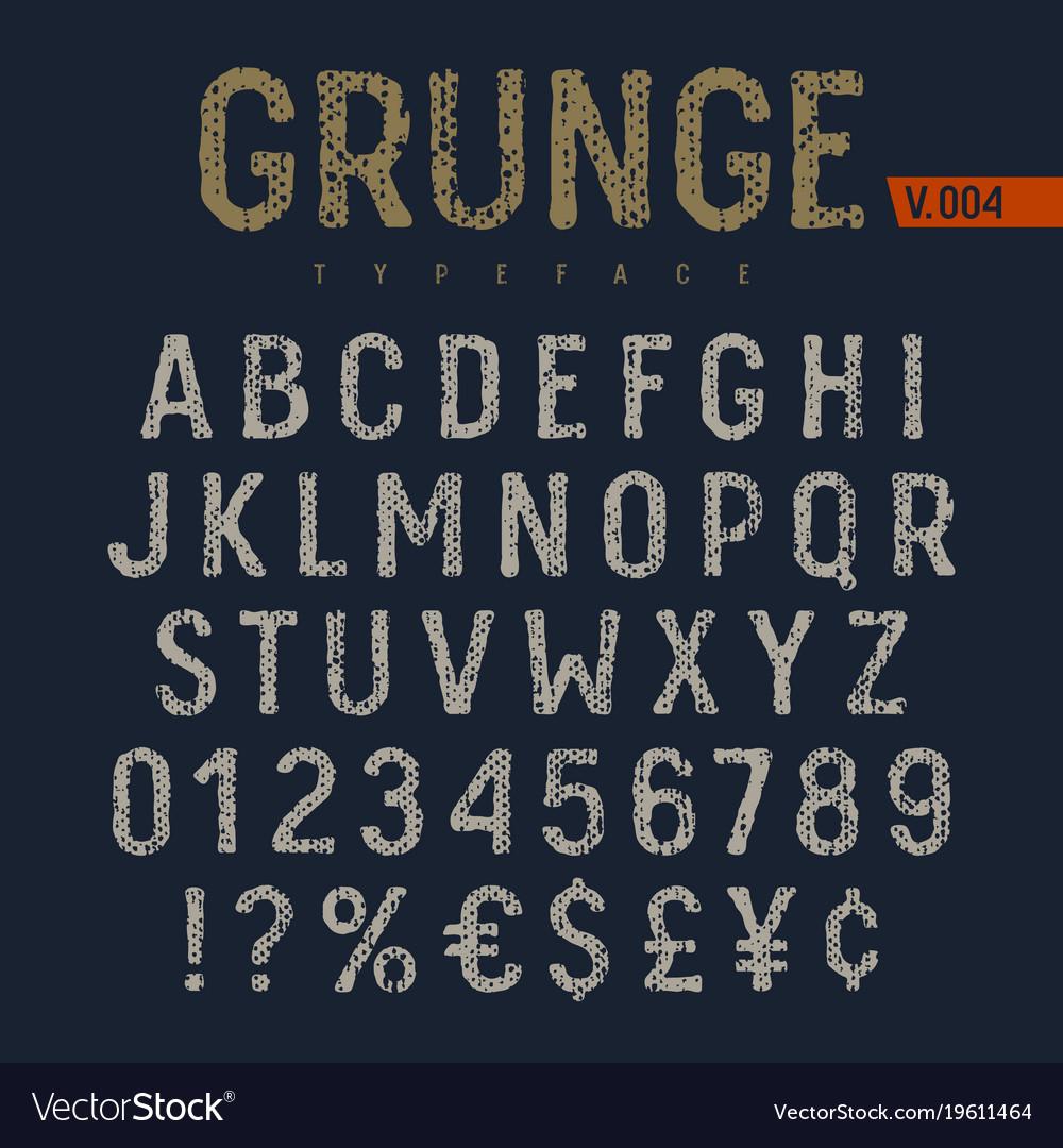 Grunge font 006