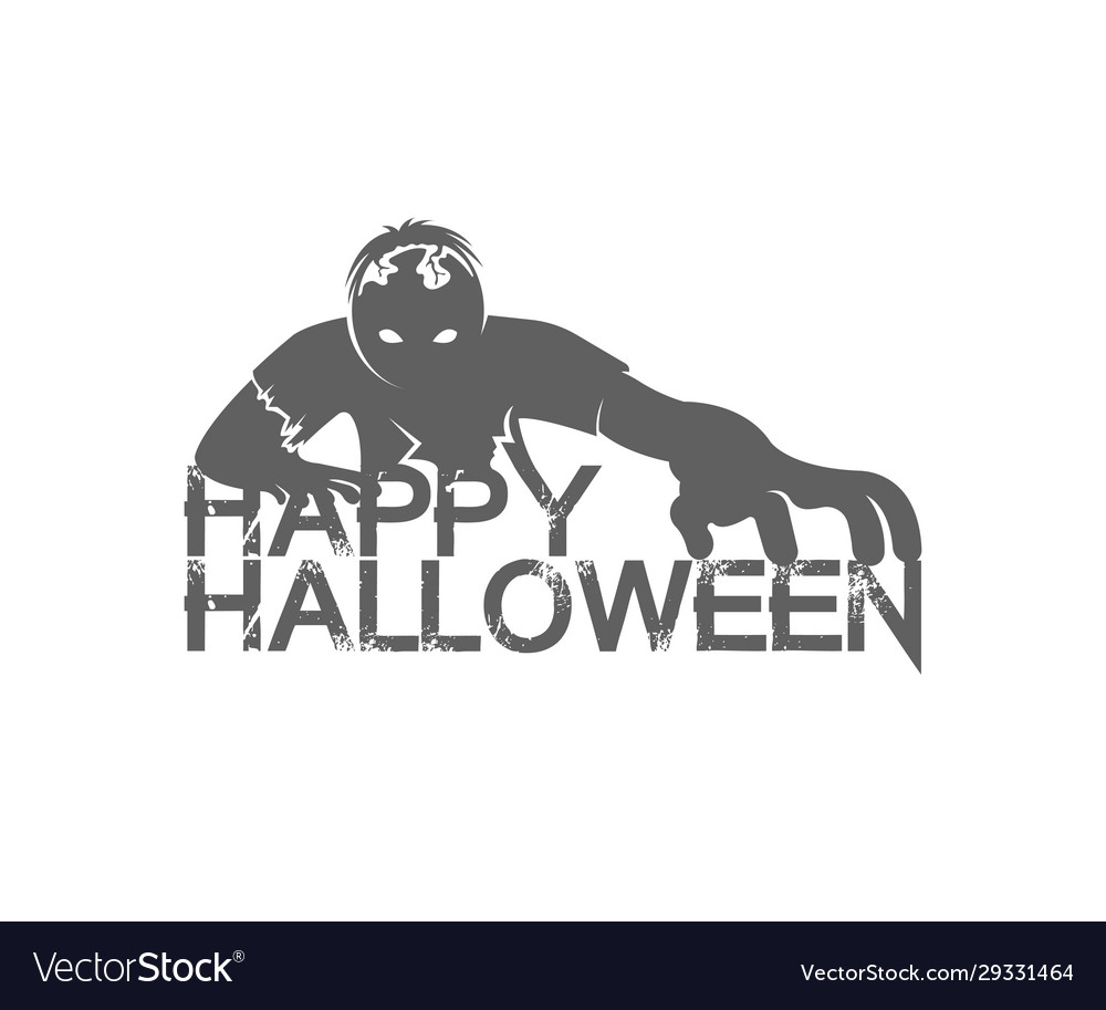 Happy halloween logotype
