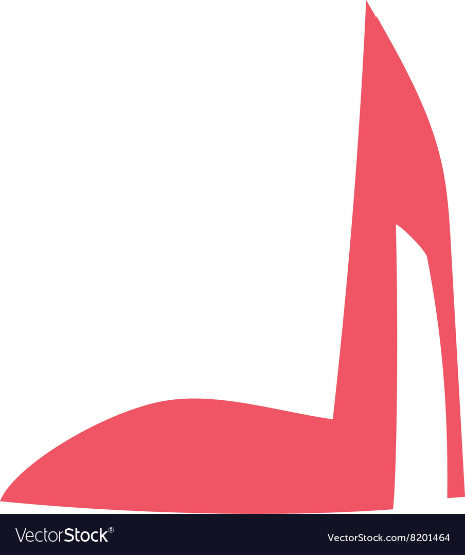 High heels with inner platform sole red patent vector image