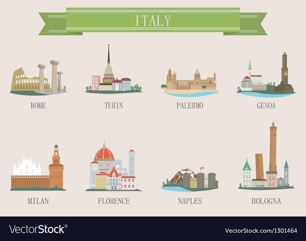 Italy city vector image