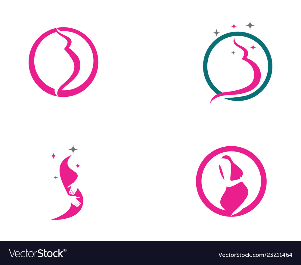 Pregnant logo template icon