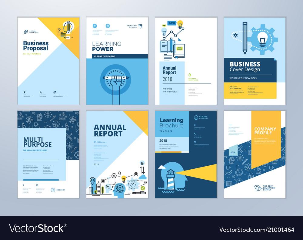 Set of brochure design templates of education vector image saigontimesfo