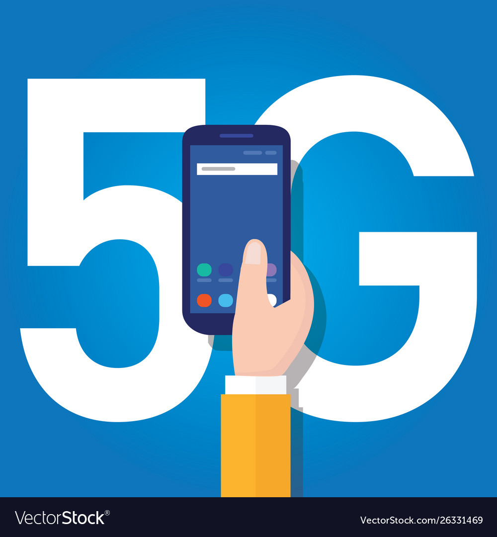 5g phone technology connect worldwide smart and vector