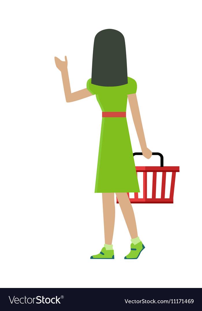Customer Woman Character vector image