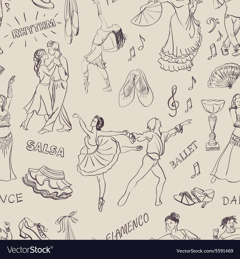 Seamless pattern dancing