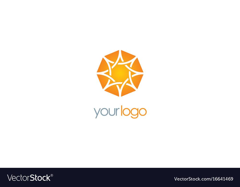 Star abstract shine logo