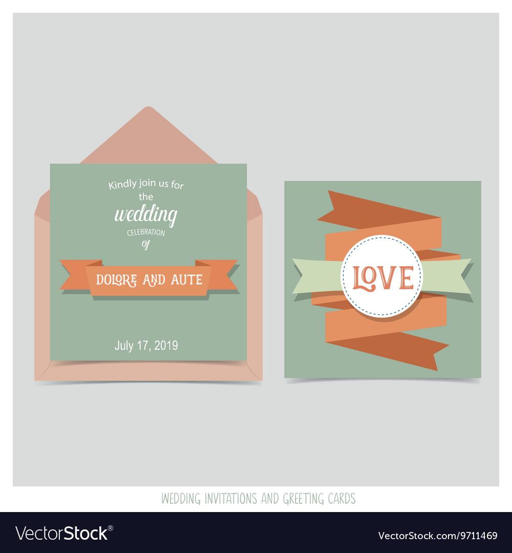 Wedding Invitation Card With Ribbon Templates