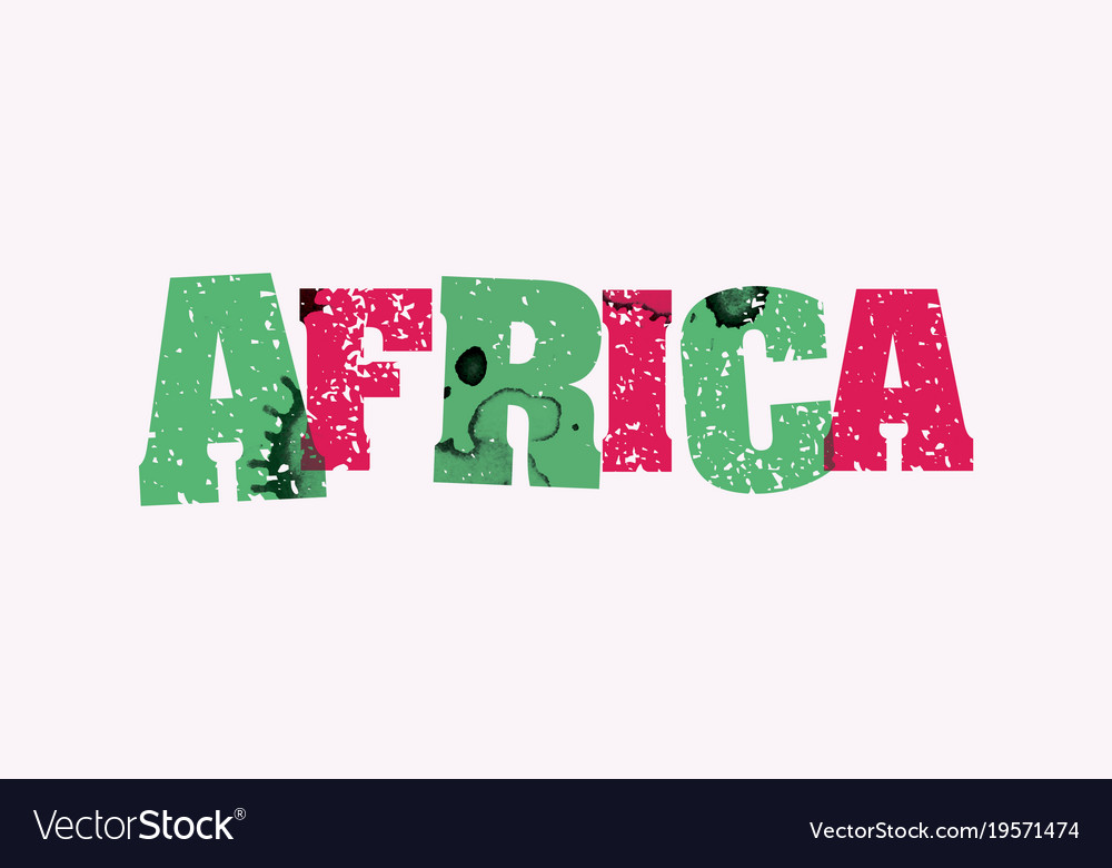 Africa concept stamped word art