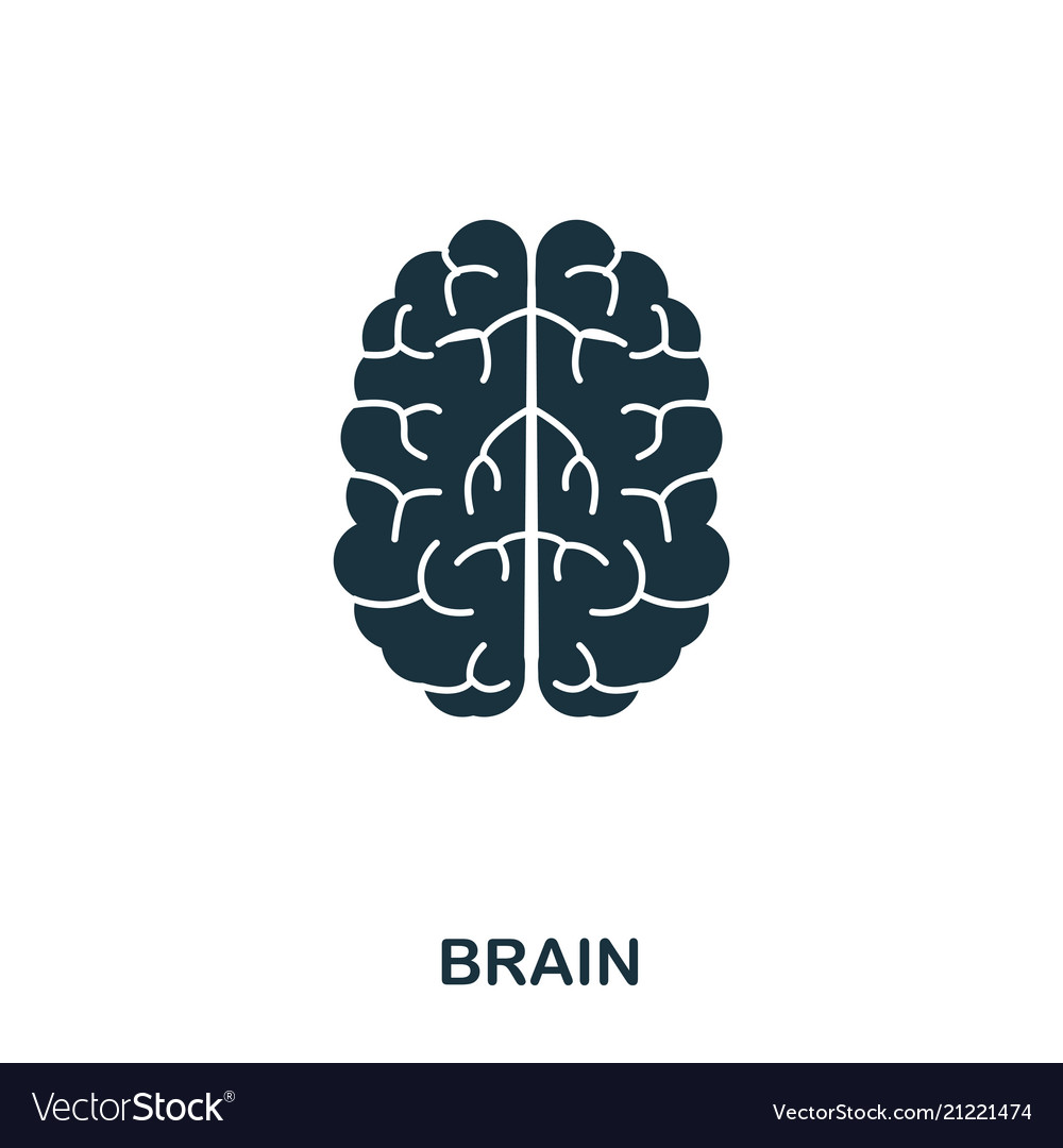 Brain icon line style icon design ui