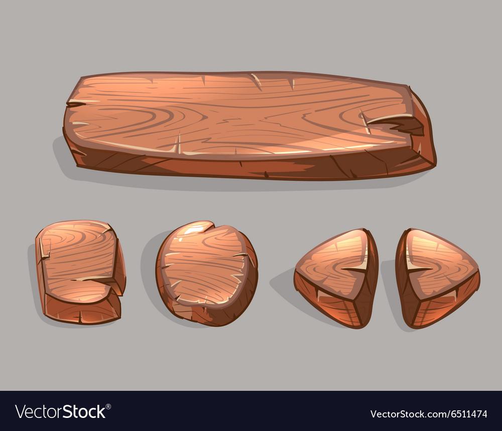 Cartoon wooden buttons set