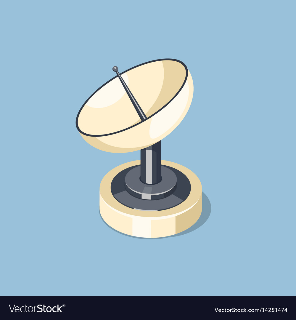 Communications satellite dish icon