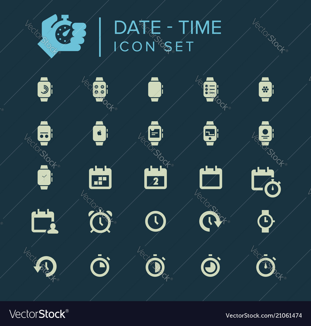 Date and time icon set