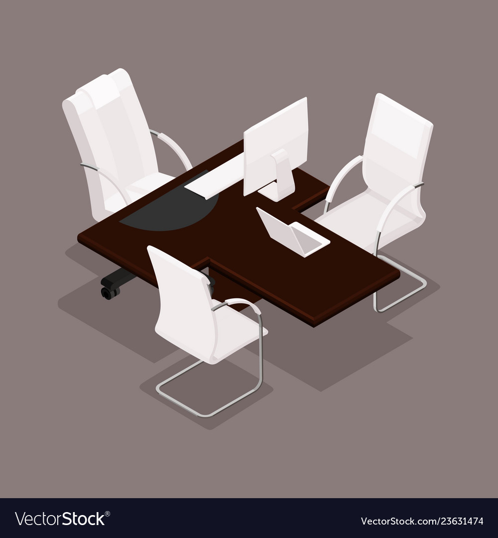 Isometric office furniture