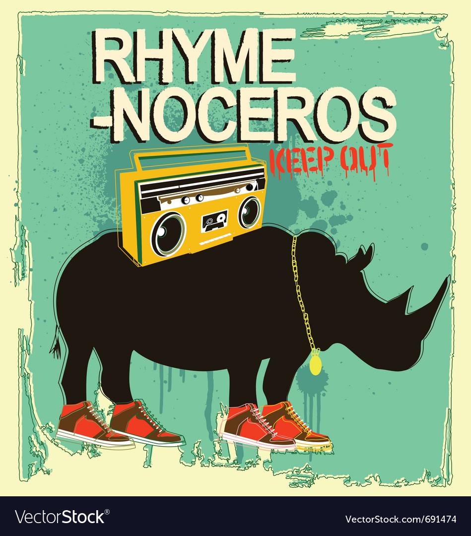 Rhyme-noceros vector image