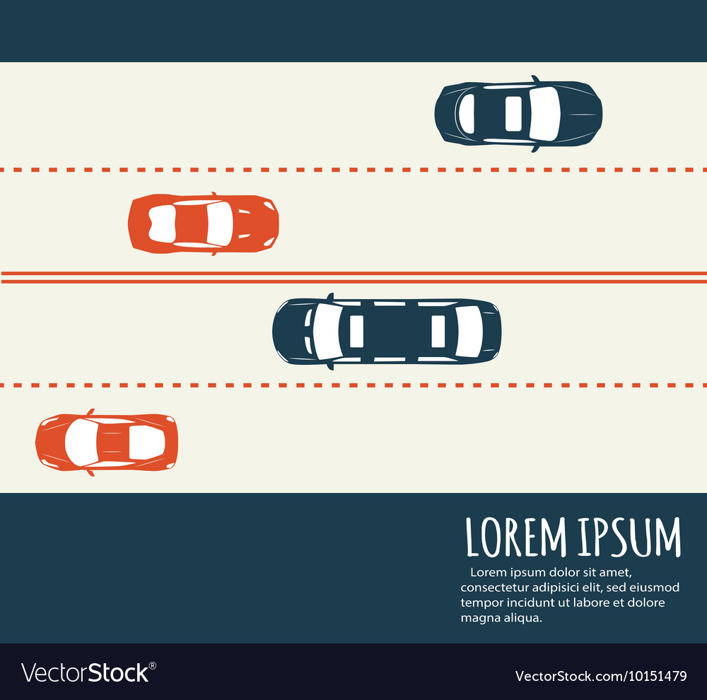 Highway traffic Minimalistic banner