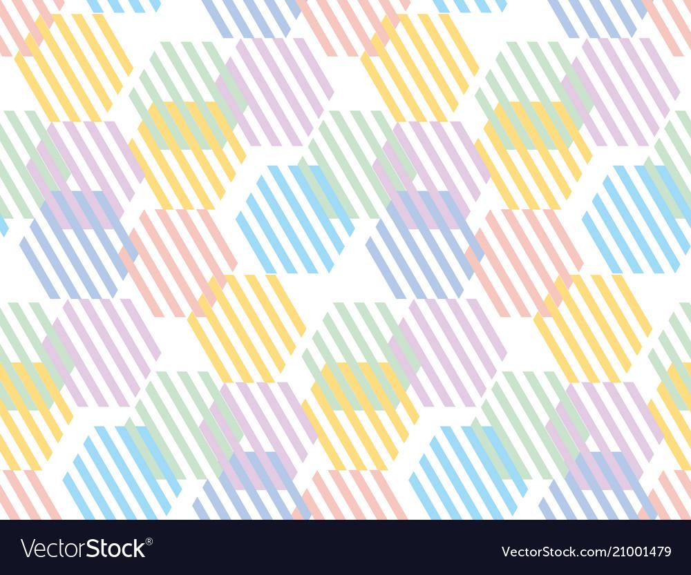 Pale color hexagon pattern seamless pattern