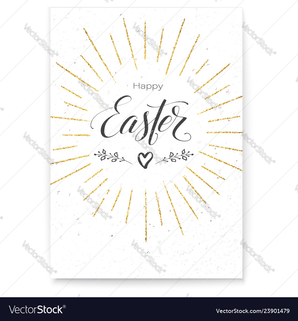 Poster happy easter festive greeting design of
