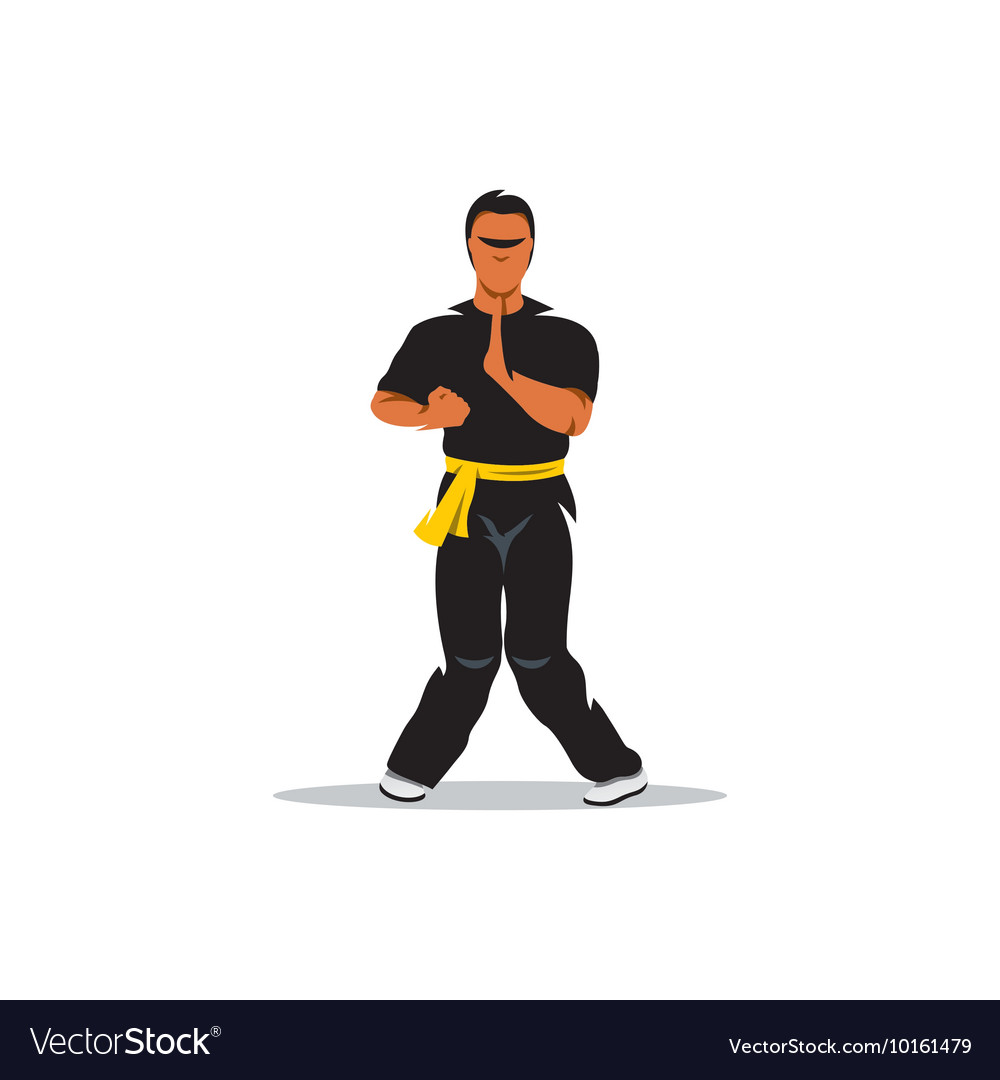 Wing Chun Kung Fu Cartoon Royalty Free Vector Image